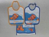 Set Asilo Nemo 3 pezzi con nome ricamato