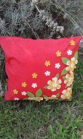 Cuscino quadrato floreale