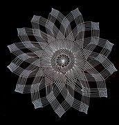 centro filet stella 14 punte bianca