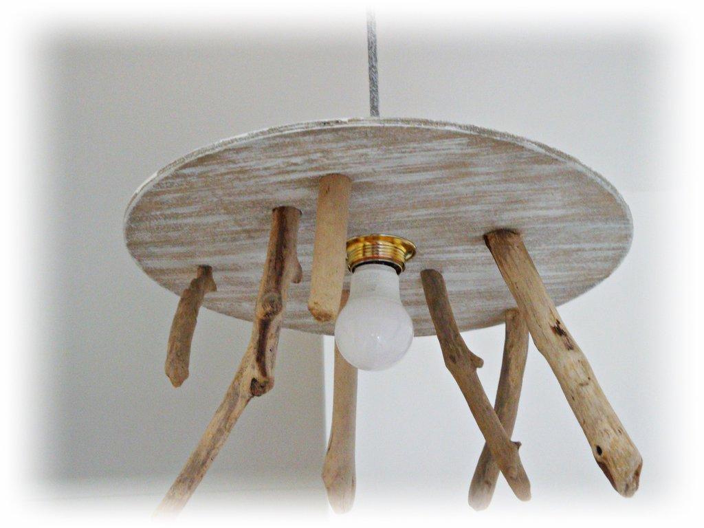 Lampadari Per Casa Al Mare lampadario rondo' con legni di mare