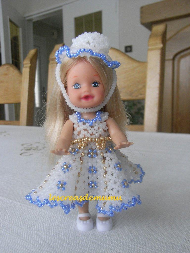 Robe poupée bleue