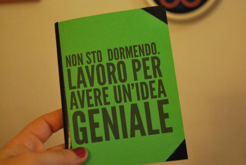 """Quadernino """"Sto avendo un'idea geniale"""" - Verde"""