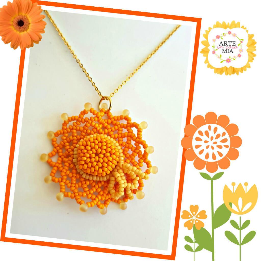 Collana ciondolo Riso amaro arancio – linea I Cappellini