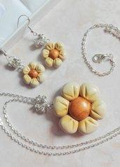 Fiore ciondolo + orecchini