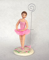 Caketopper ballerina con portafoto o portamemo danza