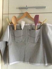 Grembiule da cucina grigio
