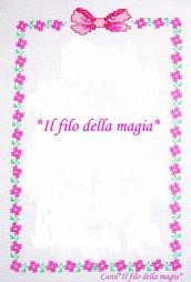 Cornicetta per quadretto nascita FIORELLINI -punto croce-
