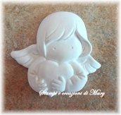 Stampo in gomma siliconica angelo cherubino con cuore
