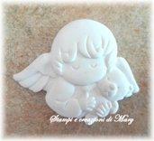 Stampo in gomma siliconica angelo cherubino orsetto