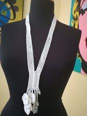 Collana bianca crochet