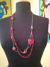 Collana quattro fili con pietre di Murano