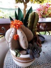 Composizione piante in pannolenci