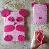 Portacellulare Pink Panda // Feltro e Pannolenci // Fatto a mano ❤