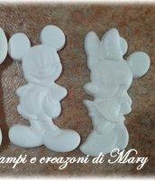 2 stampi Minnie e topolino in gomma siliconica