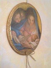 Icona sacra ovale Nativita