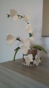 Orchidea in feltro
