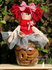 Barattolo porta biscotti con bambola