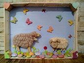 Quadretto con pecorelle