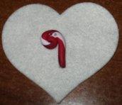 Candycane button