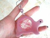 Portachiavi Shaker // Tartaruga Rosa con Glitter // Fatto a Mano ❤
