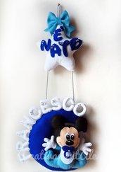 Fiocco nascita -  Baby Mickey Mouse/Topolino