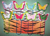 Lotto di Maxi Clips Decorative Segnapagina - Accessori per Scrapbooking e Planner - Happy Butterfly Version^^ (4pz)