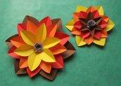 Coppia di Fiori Decorativi Grandi (2pz) - Realizzati a mano