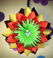 Maxi Fiore di Carta - Decorazione da Parete - Dalia - Origami Paper Flower Wall Decoration