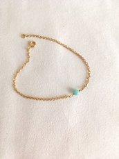 Bracciale pietra preziosa,layering bracciale,bracciale perline ,bracciale delicato,amazzonite,bracciale regalo,donna,bambina,bracciale di stratificazione,perlina azzurra