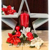 Vaso natalizio con candela