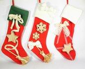 calza della befana, epifania, calza con stella, calza con fiocco di neve, fiocco di neve in legno, personalizzabile con nome