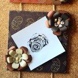 Porta foto da appendere con scatola regalo a tema natalizio
