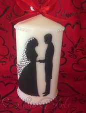 Candela Personalizzata Matrimonio