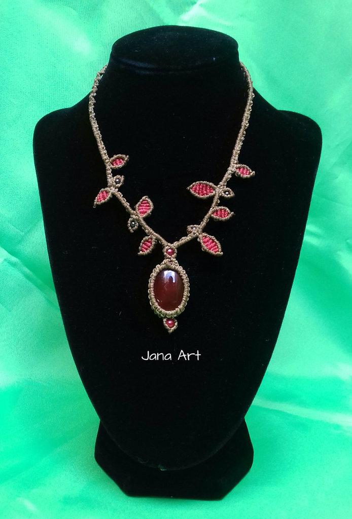 Collana per la Cristalloterapia: Agata Rossa