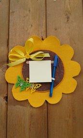 Pannello portamemo a forma di fiore