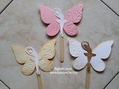 Segnaposto a forma di Farfalla con Ballerina.