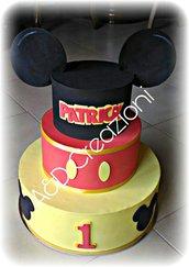 Torta finta Mickey Mouse