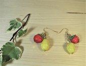 Orecchini vintage con frutta in vetro di Murano