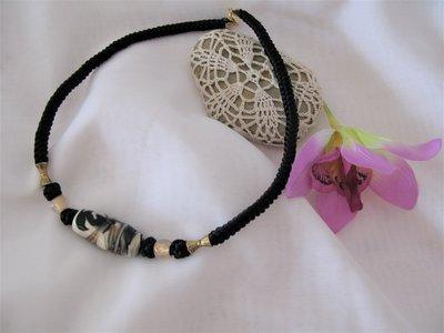 Collana girocollo con perla di Murano