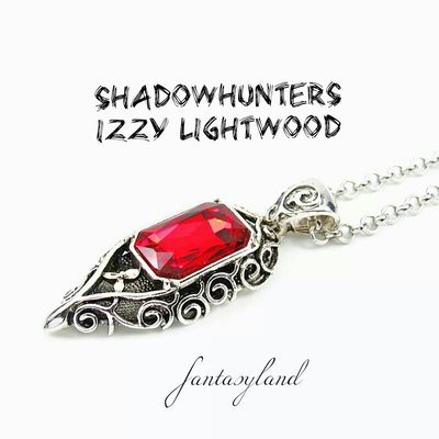 Collana isabelle Lightwood shadowhunters mortal instruments città di ossa ciondolo izzy
