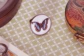 Anello farfalla regolabile senza nichel - Stile vittorian victorian shabby gothic antico