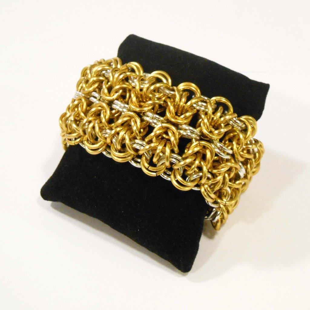 Bracciale chainmaille fascia bizantina