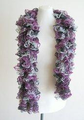 Scialle - sciarpa -Stola in pizzo di maglia - sciarpa estiva - sciarpa fatta a mano -