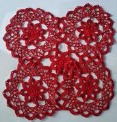 Centro da tavola rosso in cotone