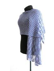 Scialle - Stola in pizzo di maglia - sciarpa estiva - sciarpa fatta a mano