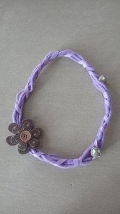 Collana feltro viola fiore