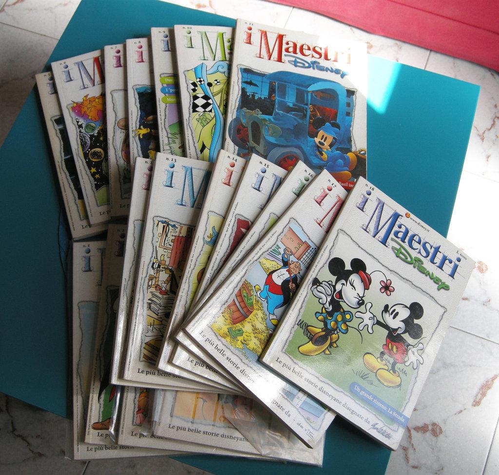 """fumetti """" i maestri D....."""" - collezione completa 1 - 18 prima serie"""