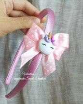 Cerchietto unicorno fiocco