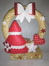 Centrotavola natalizio in vimini.