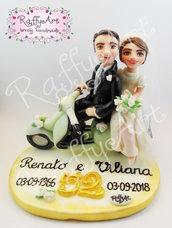 """Cake topper matrimonio/anniversario """"Vintage Love"""" (personalizzabile)"""
